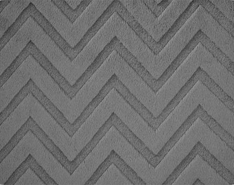 Charcoal Embossed Chevron Minky From Shannon Fabrics