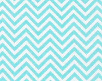 Aqua Skinny Chevron From Robert Kaufman