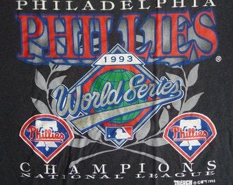 Vintage 1993 90s MLB Philadelphia Phillies World Series Champions National League Baseball T-Shirt