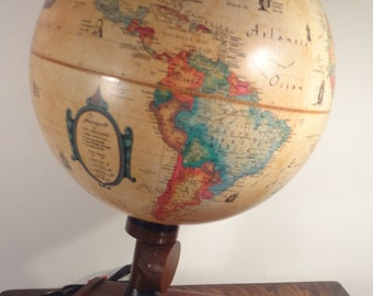 Vintage Denmark 12 in Scan Globe with lighted World Globe Barometer, Hydrometer, Thermometer BEST OFFERS CONSIDERED