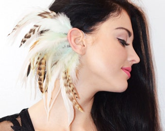 Feather Ear Cuff - Natural