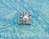 Rhinestone Button - Evangeline - (12mm) RS-062 - 20 piece set