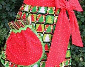CHRISTMAS  Pocket Full of Fun APRON - PDF Downloadable Sewing Pattern