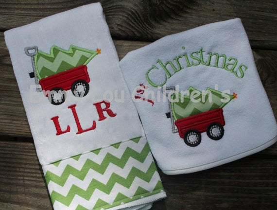 Personalised Baby Gift Sets : Personalized baby gift set one burp cloth and bib first