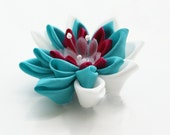 Custom Colour Bridal Hair Flower - Wedding Kanzashi Flower - Choose Colour Wedding Hair Flower - Waterlily Hair Clip - Bridesmaids Gift