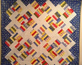 Summer 30s full or queen bed quilt