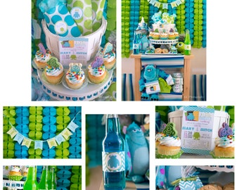 Printable Monsters Inc. Inspired Baby Shower PARTY PACKAGE-DIY
