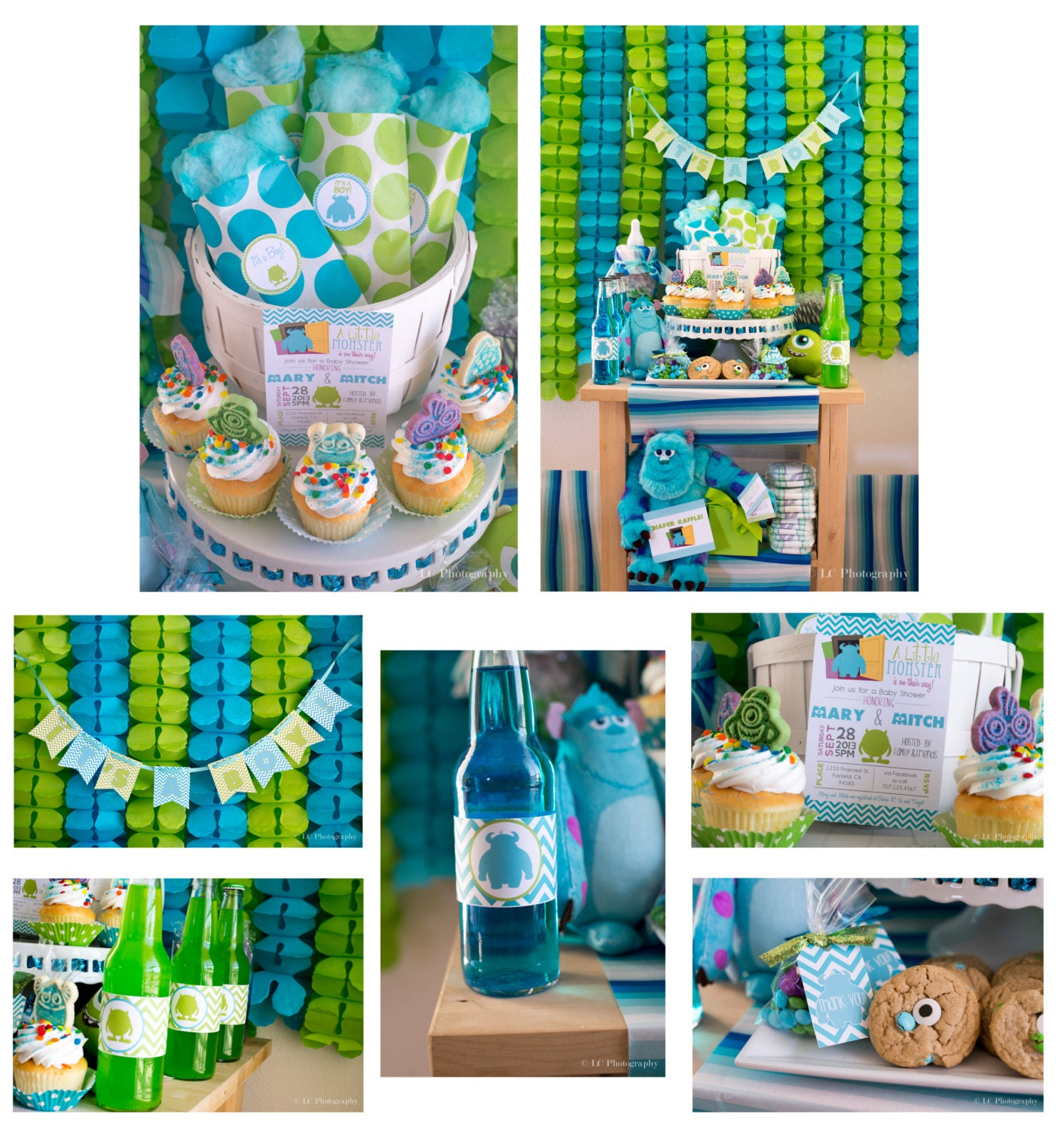 Monster Inc Baby Shower Decorations Similiar Baby Monsters Inc Party Supplies Keywords