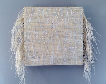 Wall Sculpture With Embedded Print And Bookbinding Thread