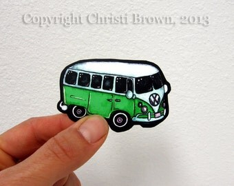 Volkswagen Bus Sticker vinyl decal for iphone car window craft waterproof vinyl retro rainbow colors