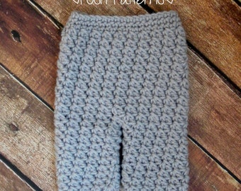 Crochet PATTERN - Crochet Baby Pants Pattern - Includes 4 Sizes Newborn to 12 Months - PDF 329 - Photo Prop Pattern