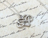 Silver Infinity Heart Necklace, Infinity Necklace, sterling silver, eternal love, spring fashion, bridal, love, sterling heart, weddings