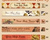 Etsy Shop Autumn Banner Set 2 - Vintage Fall - Your Choice from 5 Pre-made Designs