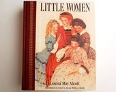 Vintage Book Little Women by Louisa May Alcott Illustrated in Color by Jessie Willcox Smith Children's Classic Dilithium Press 1987