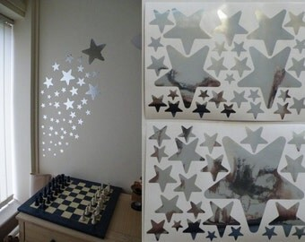 Mirror Stars Wall Stickers 2 sheets of A4