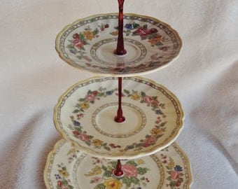 Vintage Royal Doulton China Dessert Stand, The Cavendish Pattern