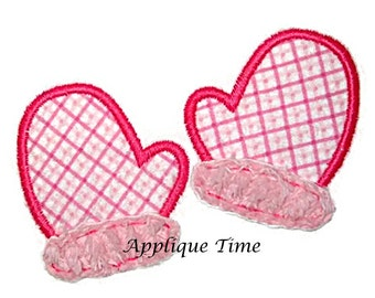 Instant Download Mittens Machine Embroidery Applique Design 4x4, 5x7 and 6x10