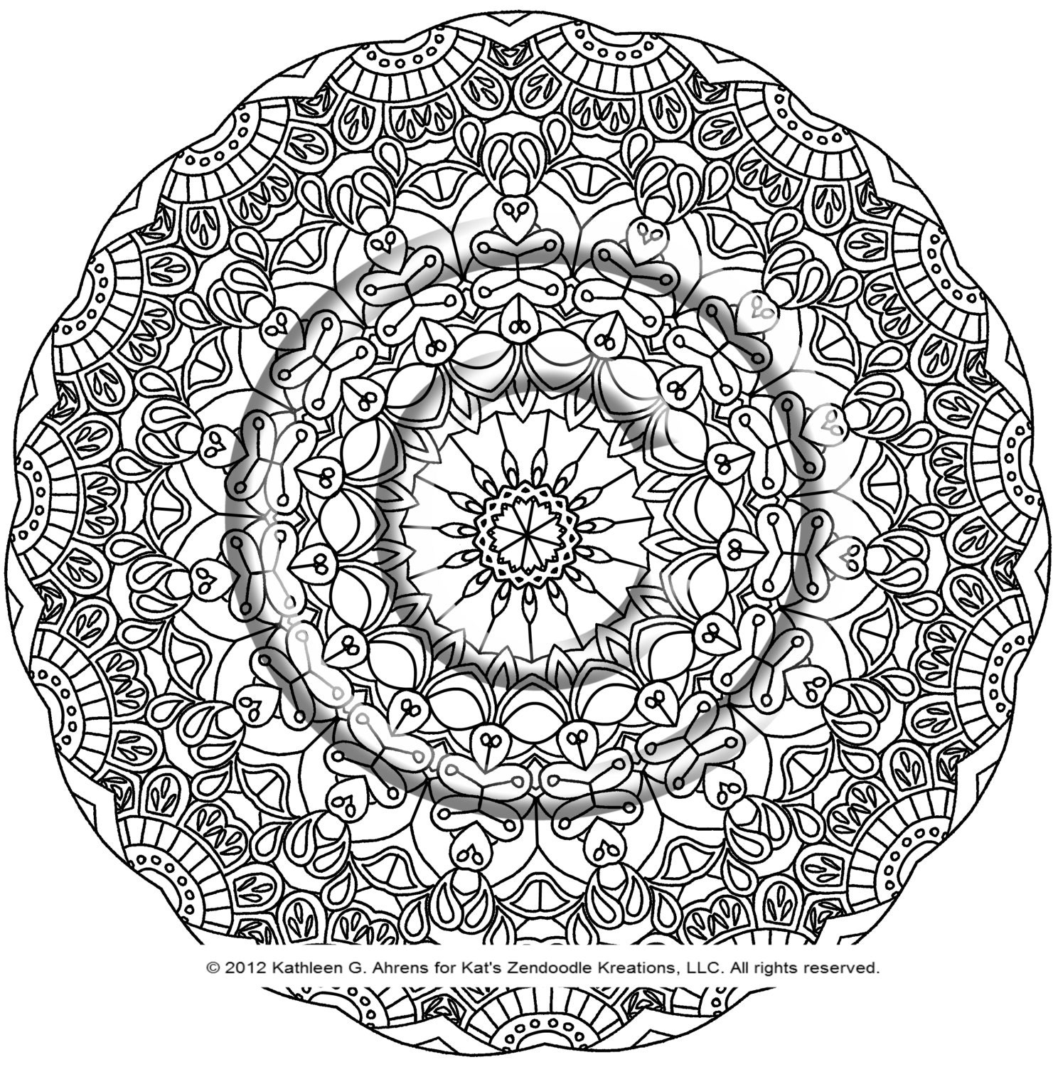 Colouring pages geometric patterns - Kaleidoscope Coloring Pages Pdf Download Coloring Page