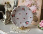 Floral Polka Plate for Dollhouse