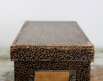 Vintage Index card holderRecipe File Box - Index Card Catalog - Vintage Recipe Box - Office Organization - Index Card Box File /