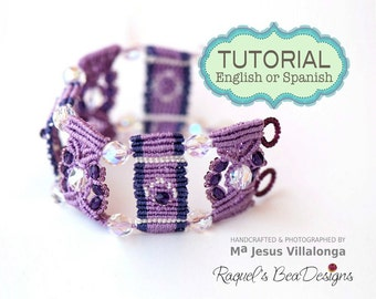 "Micro-Macrame TUTORIAL ""Step by Step"" Bracelet"