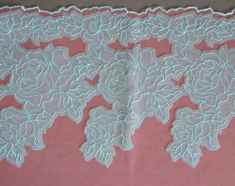 Floral Embroidered Applique Band