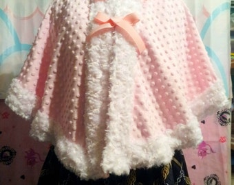 Strawberry Chan Alpaca Lolita Hooded Capelet
