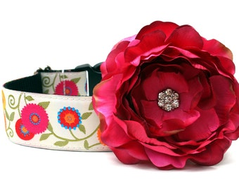 Dog Collar Flower Add-On for Your Custom Dog Collar
