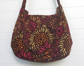 Hippie Boho Bag Purse Floral Cut Velvet Messenger Bag