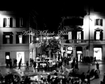 Dior -Rome- Fine Art Photograph-Rome at Night-Italy-Romantic-Shopping-Fashionista-Roman Holiday-Preppy Dorm-Prada-Boutique Art-Italian
