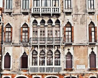 Italy Photograph-Purple Doors- Venetian Decor-Mediterranean-Venice Art-Boats-Romantic- Balcony-Rustic Print-Boats-Tuscan Home Decor-Travel-