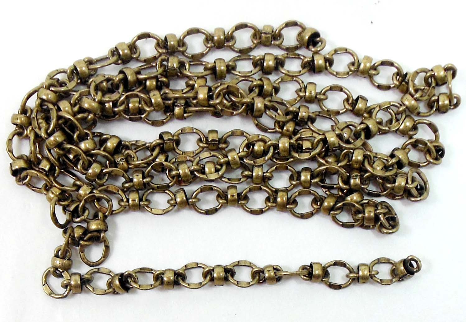 bead and link connector chain jewelry chain brass ox