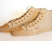 Plain Cardboard High Top Shoes