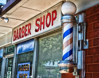Fort Worth, Texas, TCU, Texas Christian University, Barber Pole, - Fox's Barber Shop