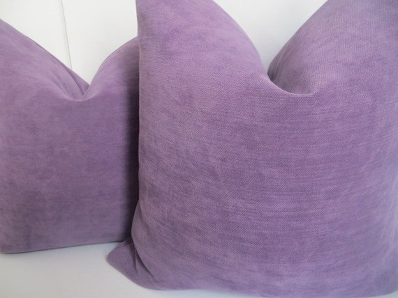 Solid Purple Decorative Pillows : Solid Violeta Decorative Pillows Solid Purple by ClavelFashion