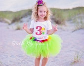 Luau Girl Hawaiian Themed Birthday Tutu Outfit, Hawaiian Luau Themed Tutu Set, Luau Themed Tutu; Hula Girl Tutu Outfit *Bow NOT Included*