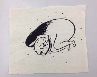 Cosmic Bagel Girl Handmade Silkscreen Patch