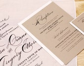 Handkerchief Wedding Invitation Set
