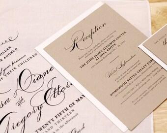 Handkerchief Wedding Invitation Set