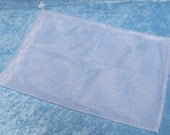 Medium size mesh laundry bag for washing small items, 11 by 16 inches