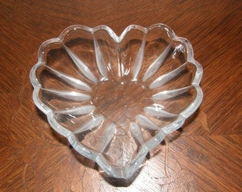 Glass Heart Shaped Bowl
