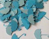 Umbrella Confetti, Baby Shower Confetti, Table Decoration, 100 pieces Various Colors Made to Order