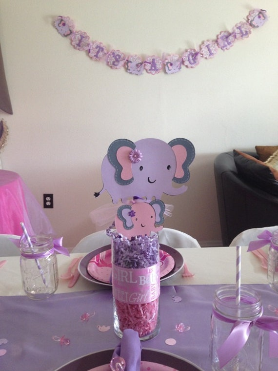 elephant baby shower package for cindy by bigorangetabby on etsy