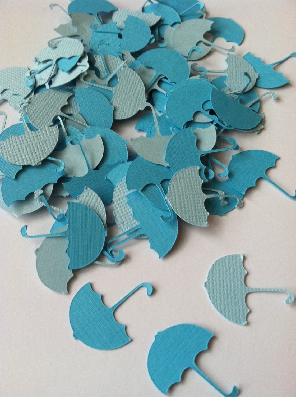 Umbrella confetti baby shower confetti table decoration for Baby confetti decoration