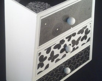 Black and White Upcycled Jewelry Box