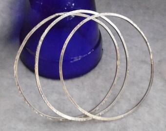 Sterling SIlver Bangle Bracelets, Stacking Bracelets, Boho Bangle Bracelets