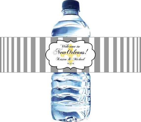 100 fleur de lis wedding water bottle labels waterproof labels