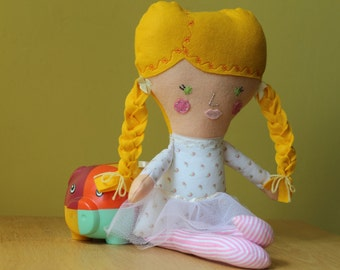 Personalized Dolls and Daydreams rag doll ballerina