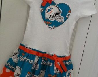 Miami Dolphins inspired cheerleader dress