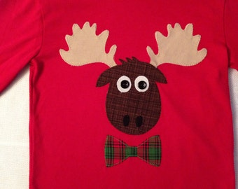 Ready to Ship Moose Reindeer Shirt  18 month